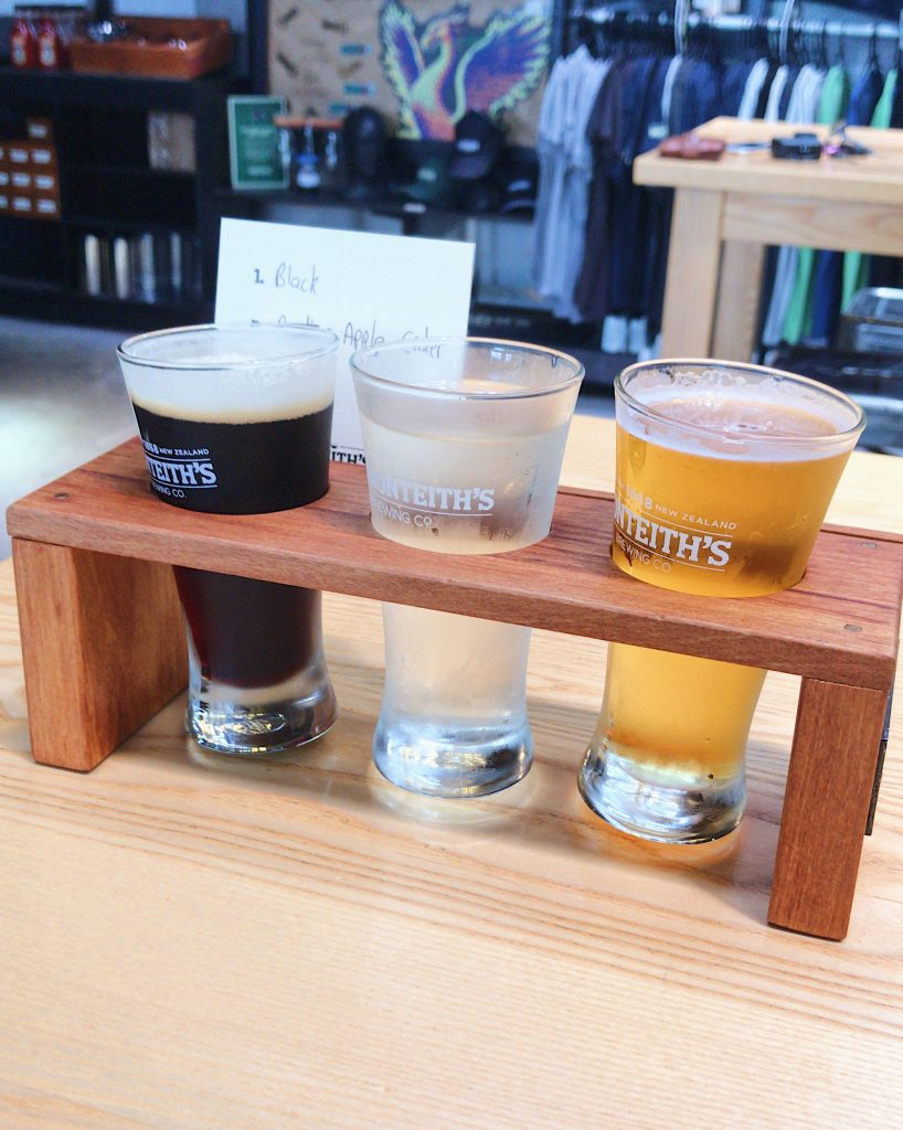 One of the best things to do in Greymouth is visiting Monteith's Brewery and enjoying a tasting flight