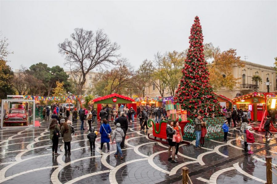 The Christmas market in Baku is new for Azerbaijan