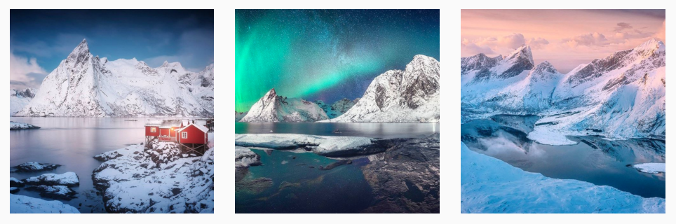 best Norwegian instagrammers lofoten photos