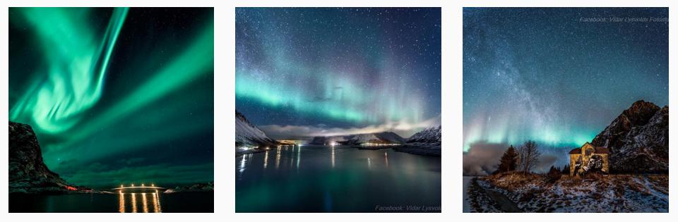 best Norway Instagram photos northern lights