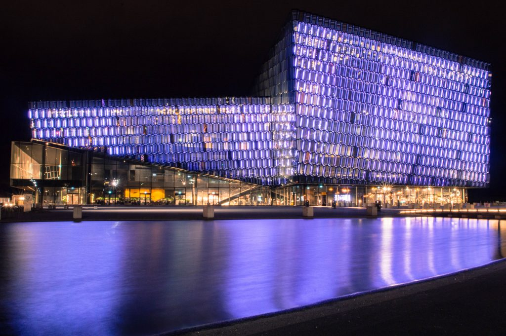 Harpa concert hall symphony orchestra night Reykjavík Iceland - How to spend 48h in Iceland