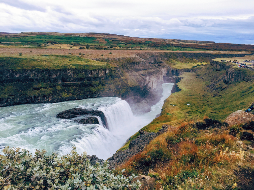 Gullfoss Waterfall in Iceland Summer - things to do with only 48 hours in Iceland