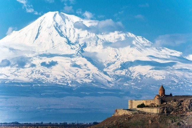 View of Mount Ararat in Armenia, an off the beaten path destination you shouldn't miss!
