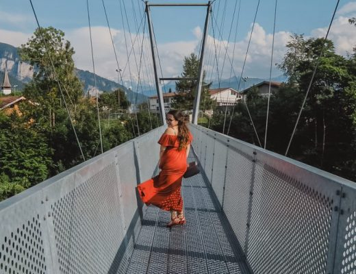 Dancing on the Sigriswil Panorama Suspension Bridge on our Switzerland road trip