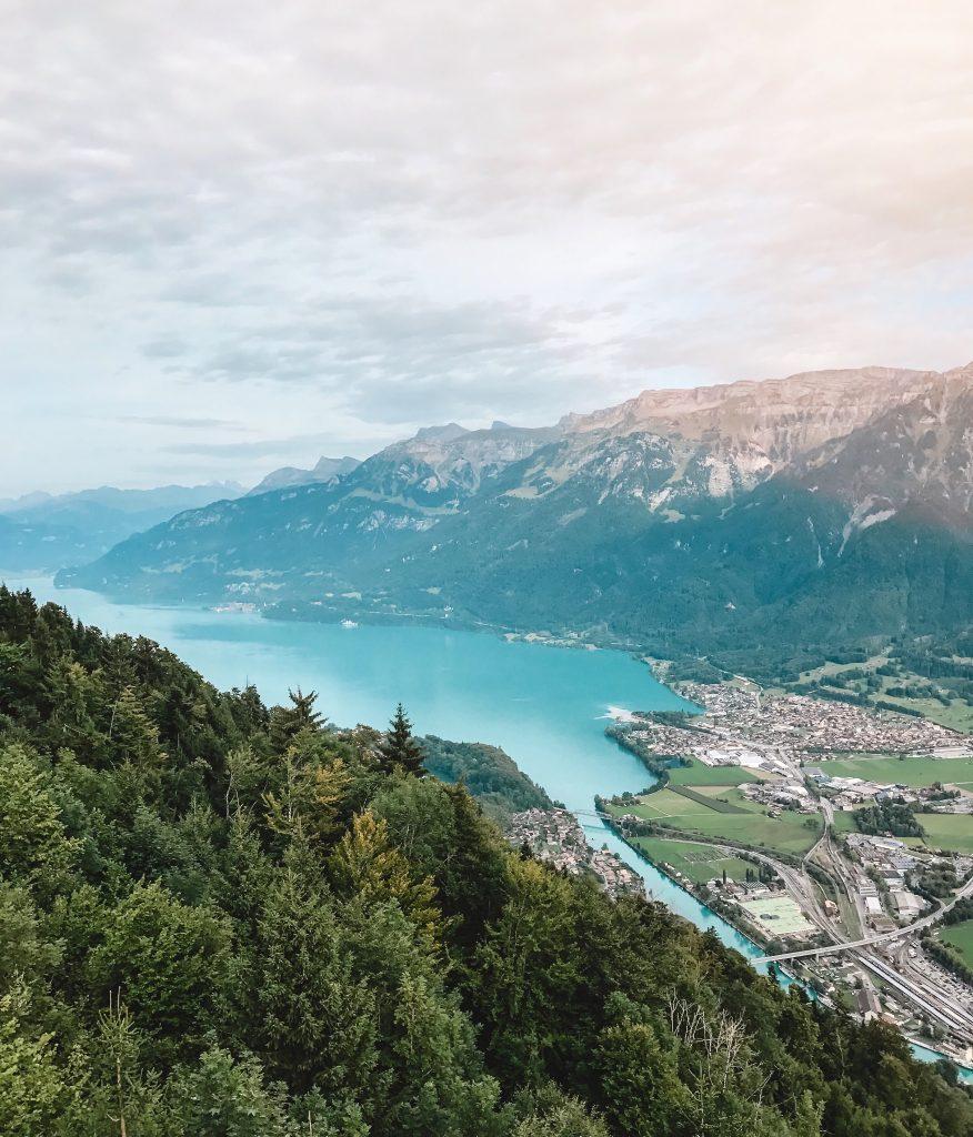 View from Harder Kulm of Brienzersee (Lake Brienz) by Interlaken