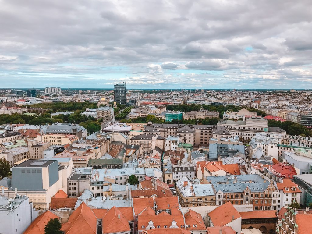 Is Riga worth visiting? YES! Head up to the top of St Peter's Church and you will be rewarded with panoramic views over Riga