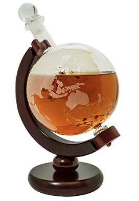 Holiday gift guide for the millennial traveler - globe whiskey decanter