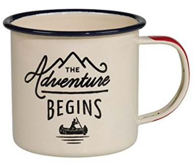 Holiday gift guide for the millennial traveler - enamel travel mug