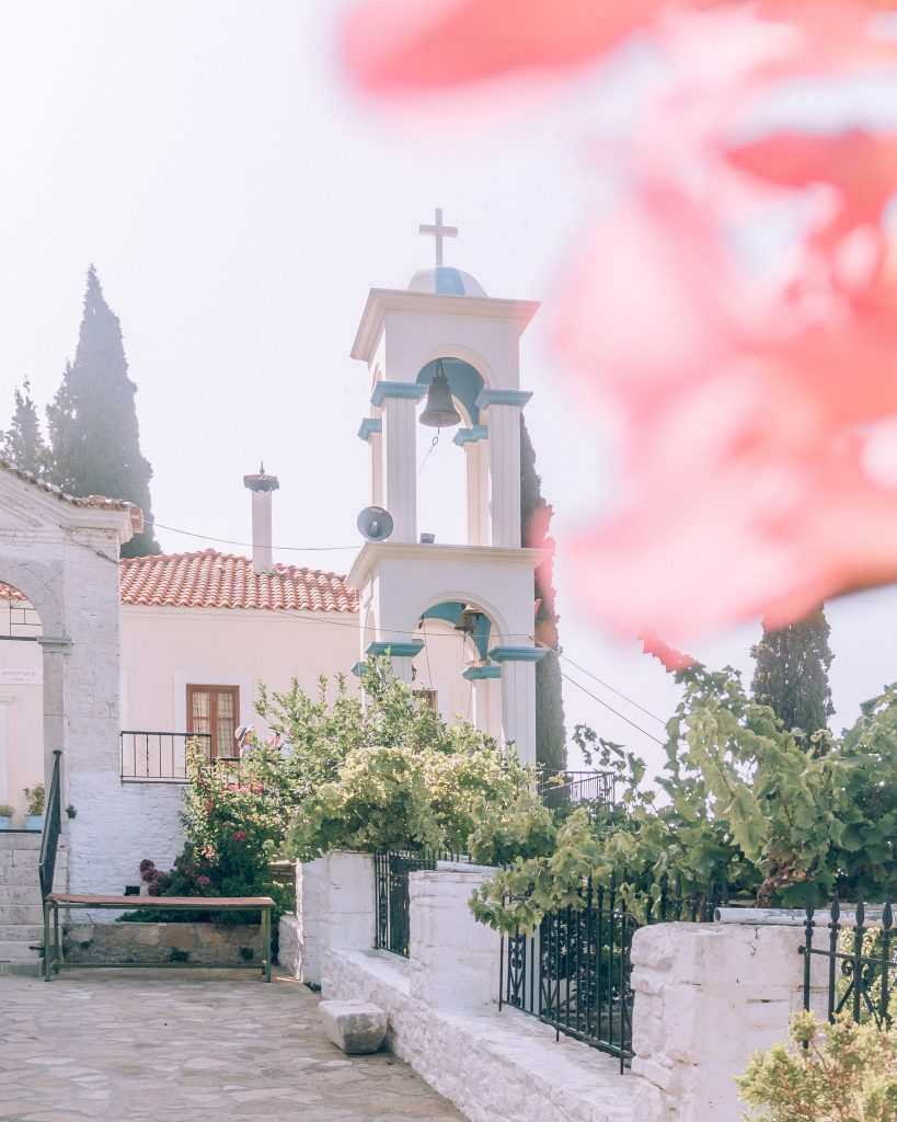 One must visit place on Samos island is the beautiful Monastery of Panagia Spiliani