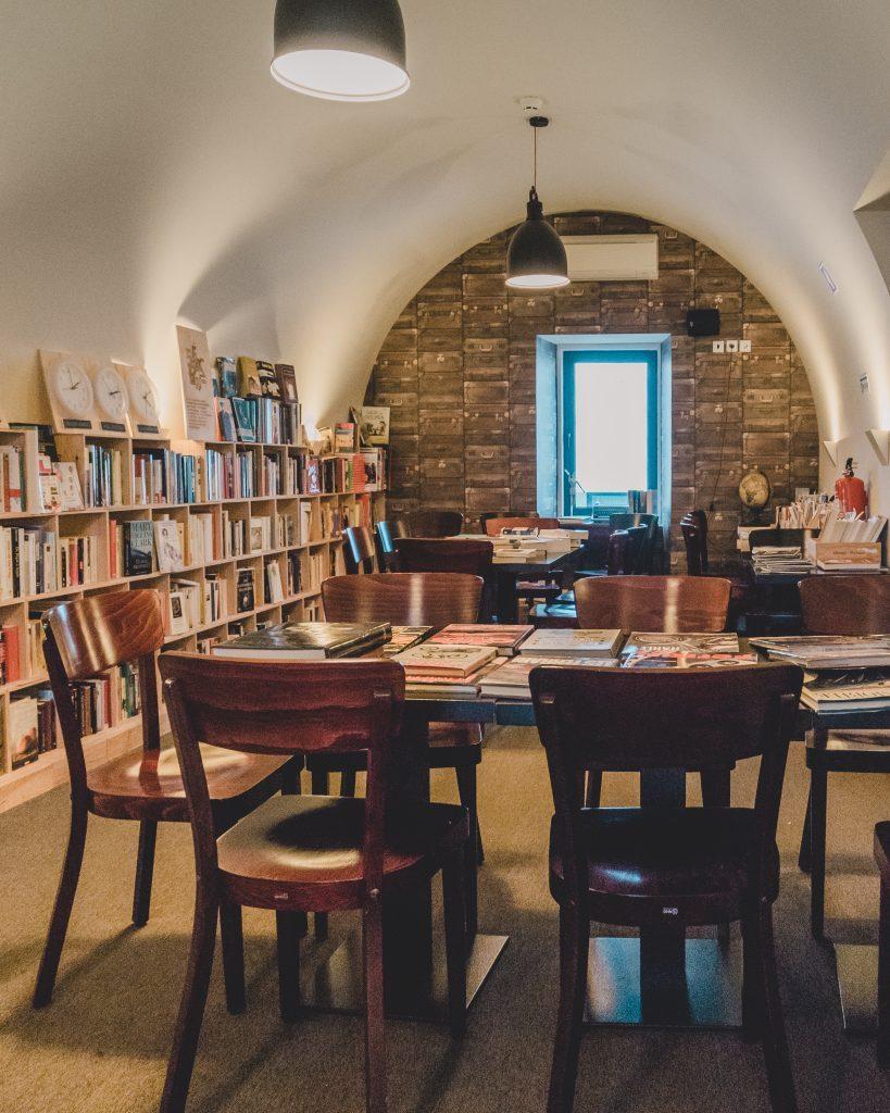 Where to eat in Cascais - dine in a library at Pestana Cidadela Cascais