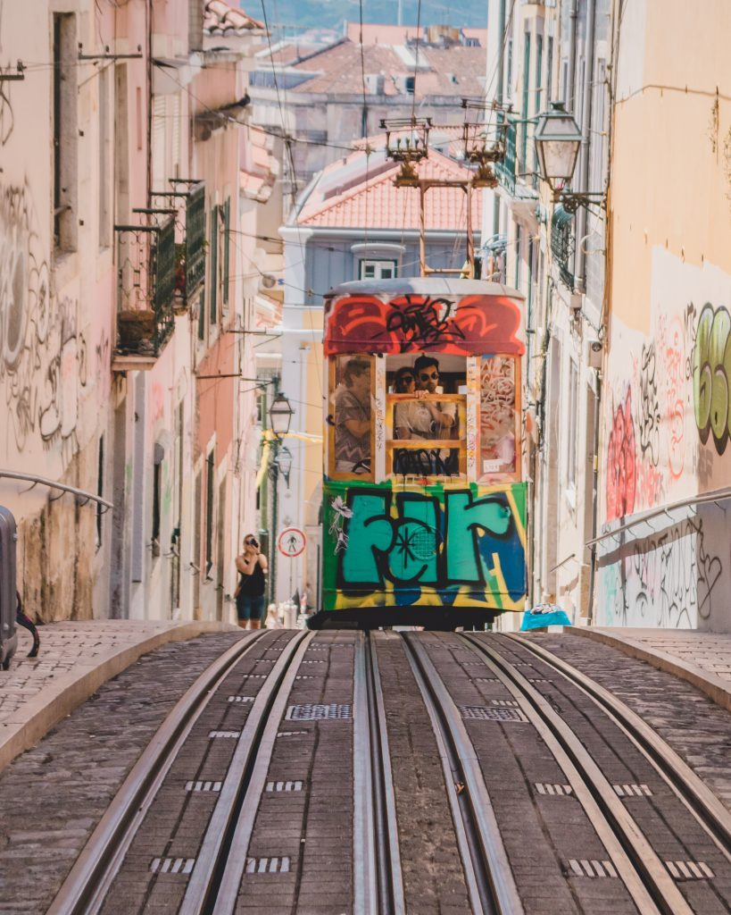 Most instagrammable spots in Lisbon - Elevador da Bica