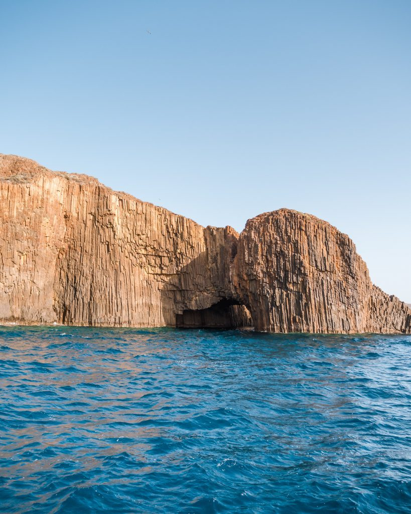 Things to do in Milos include visiting the impressive rocks of Glaronisia