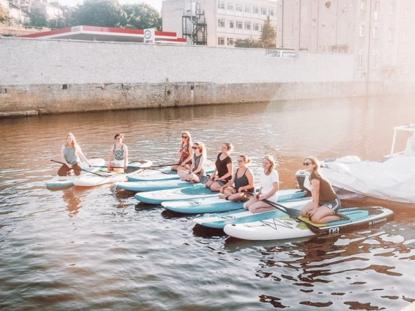 One unusual thing to do in Bath is paddleboarding on the River Avon