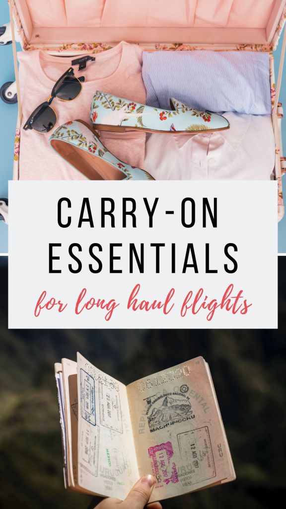 Carry on essentials for long haul flights guide