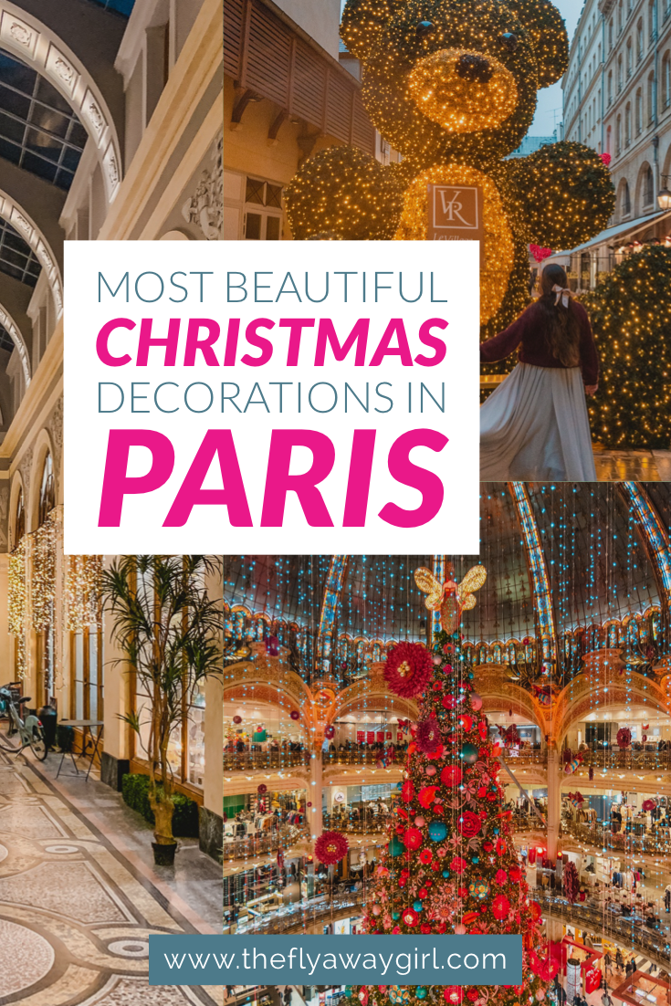Looking for the best Christmas decorations in Paris? Here are the most instagrammable locations in Paris at Christmas for all your festive needs. Whether you want to visit a Paris Christmas market or just enjoy Paris in winter, there is so much to do in Paris in the holidays. Don't miss Paris in the winter! #paris #france #christmas