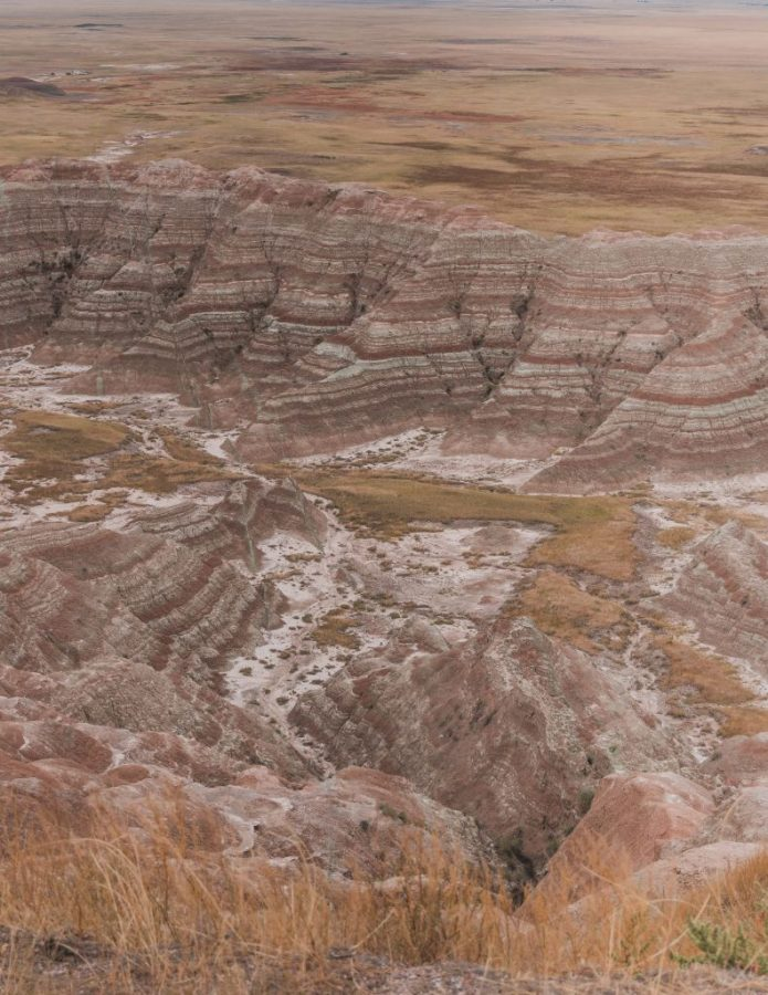 Homestead Overlook provides an amazing view over the Badlands National Park