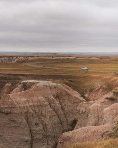 Panorama Point Badlands is a beautiful viewpoint in the Badlands National Park, South Dakota
