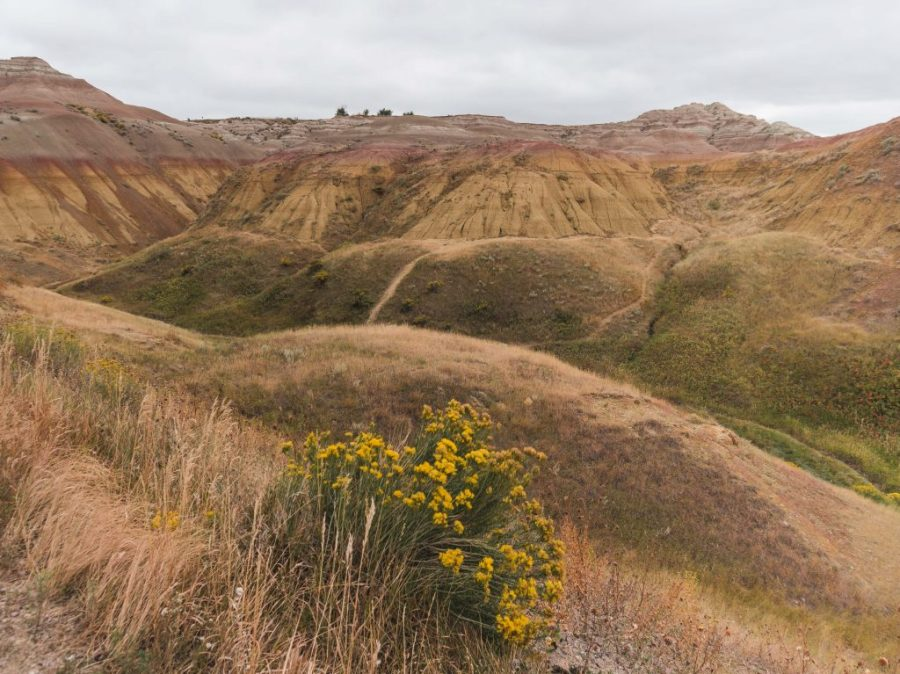 What to see in the Badlands - don't miss the spectacular Yellow Mounds along the Badlands route