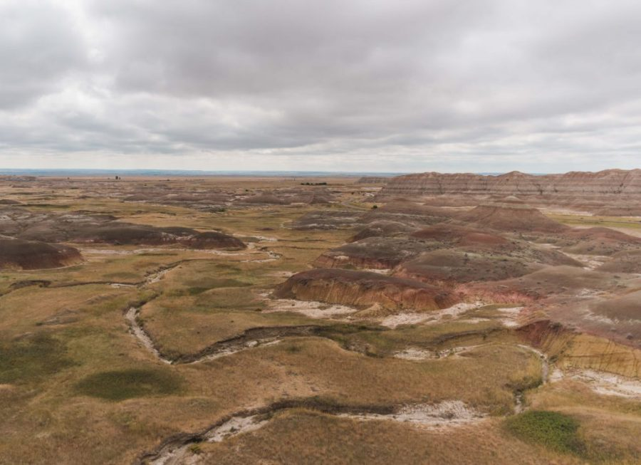 The best route through Badlands National Park stops at Yellow Mounds Overlook