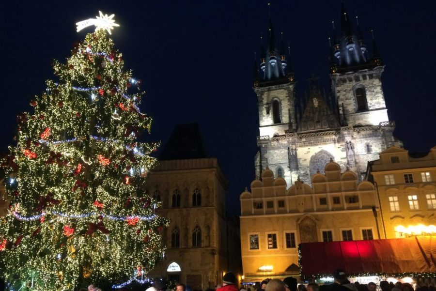 Prague looks beautiful in winter with its decorations and Christmas markets