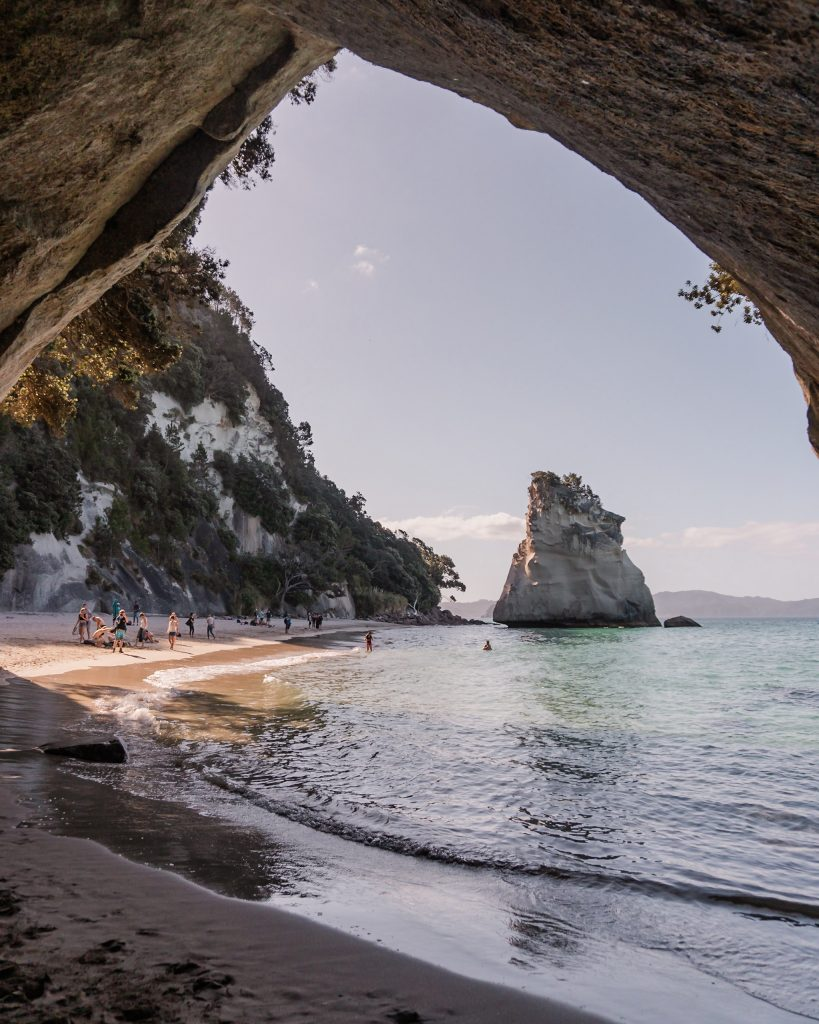 The Coromandel Peninsula is home to some of the most beautiful beaches in New Zealand and is where you will find the impressive Cathedral Cove