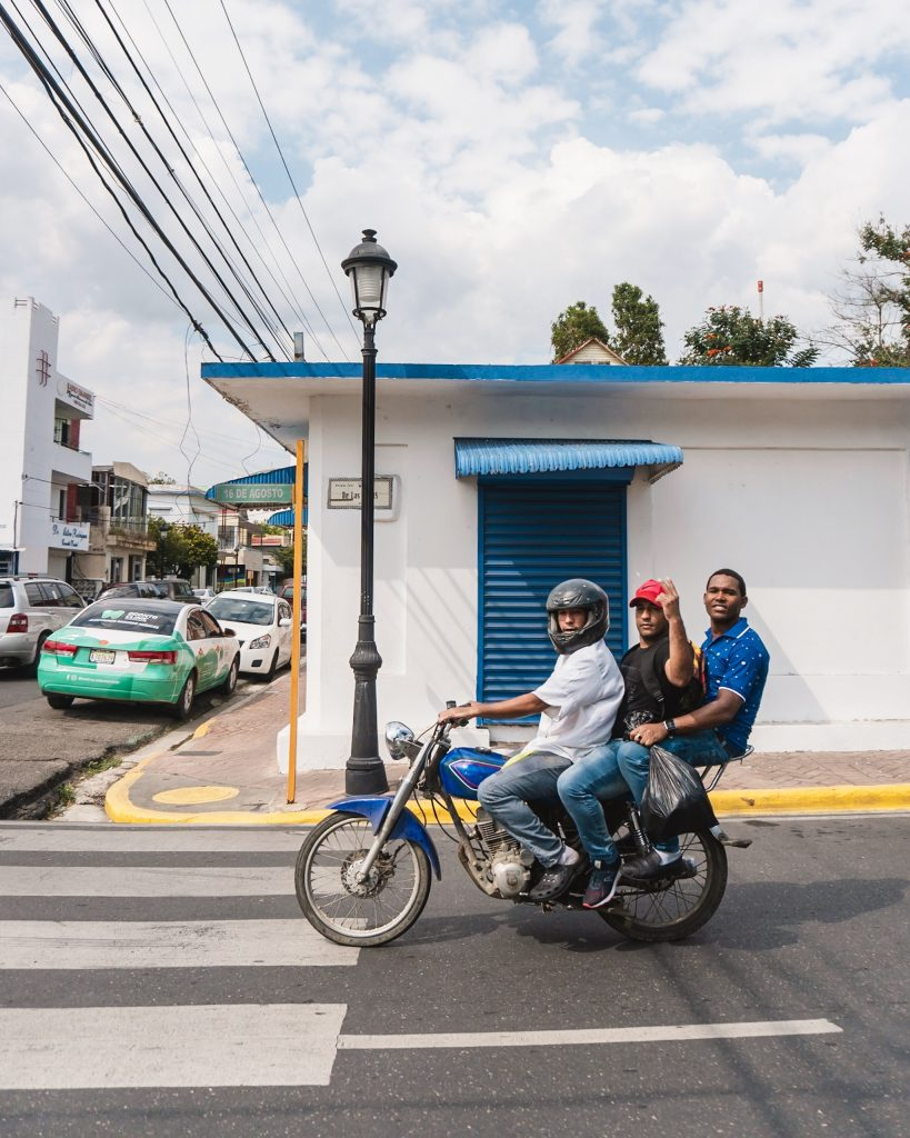 Instead of getting a taxi in the Dominican Republic, why not get a motorcycle taxi? Motorbikes are one of the most common ways of getting around the country.
