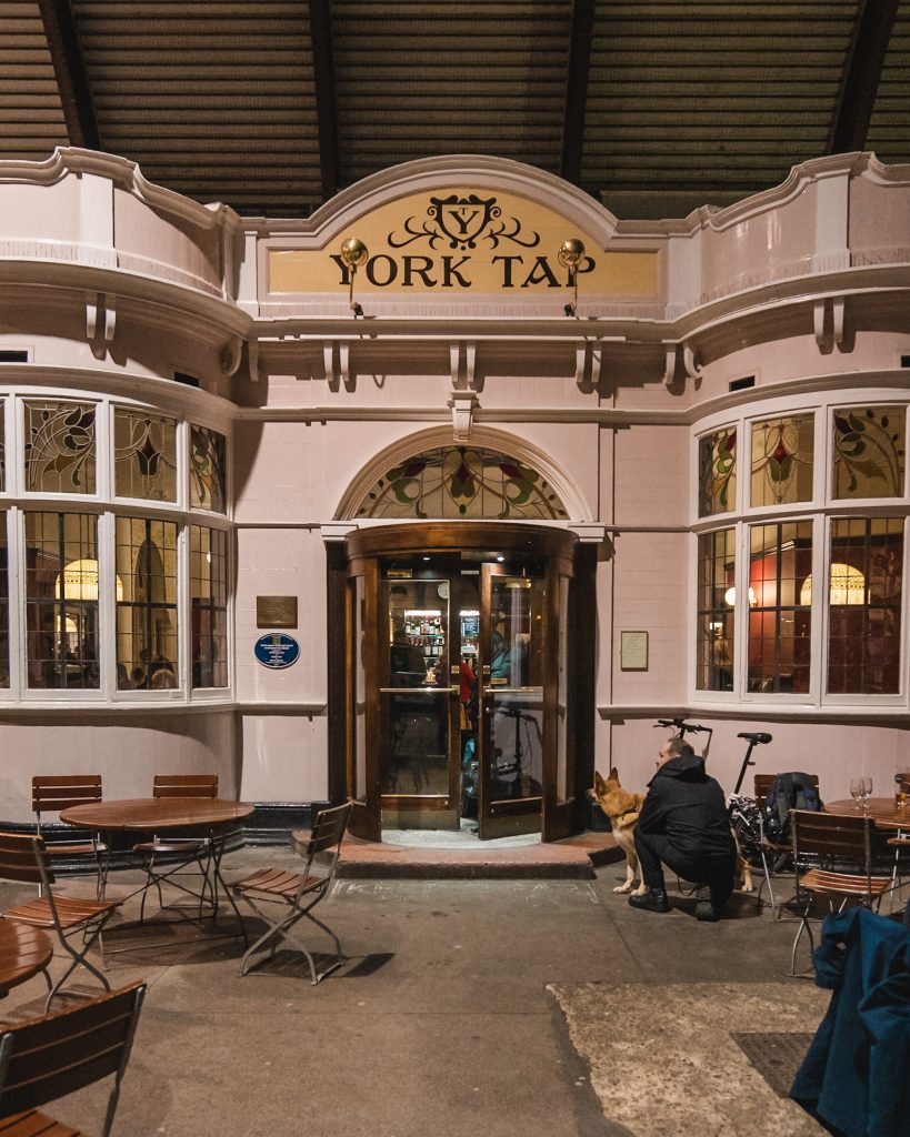 The York Tap is the closest pub to the station... it's literally INSIDE the station! Great for before the evening train home or if your train arrives in the late afternoon!