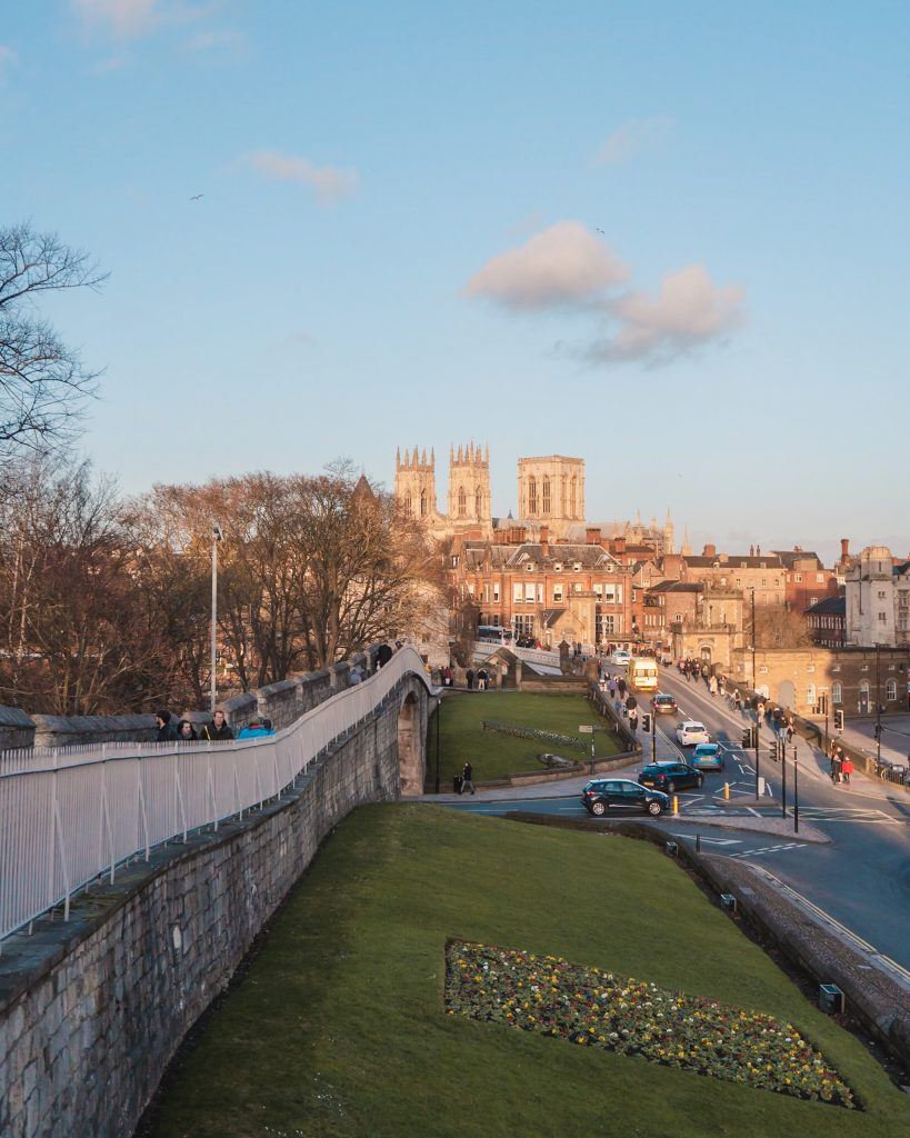 The iconic shot of York Minster from the part of the city walls as you approach Lendal Bridge. York is definitely an amazing place for a weekend break in England!