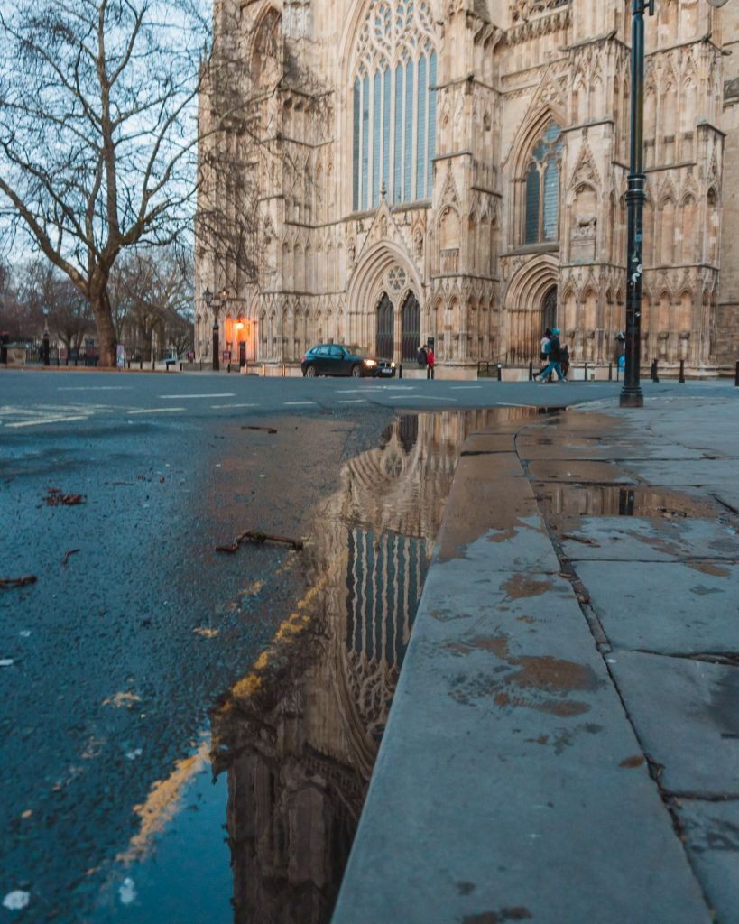 On a rainy day in York you should explore the inside of York Minster as well as getting some great reflection shots!