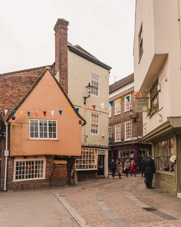 The Shambles is one of the best known areas of York with its wonky buildings! Don't miss this on a weekend in York.