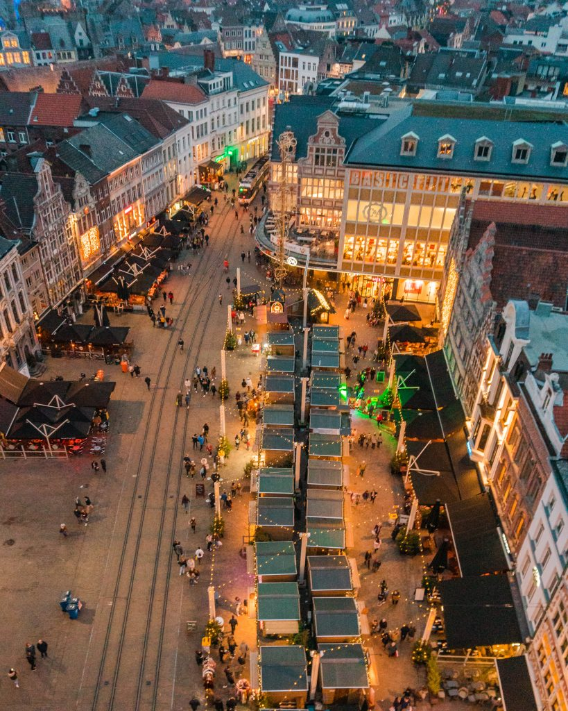The best view of the Gent Christmas market is from the Ferris Wheel!