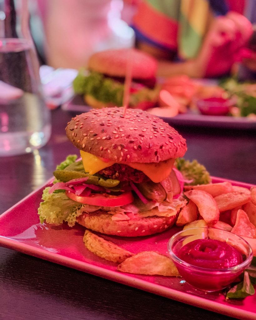 Try a vegan burger in Vilnius at RoseHip Vegan Bistro in the old town. Possibly the best vegan restaurant in Vilnius old town!