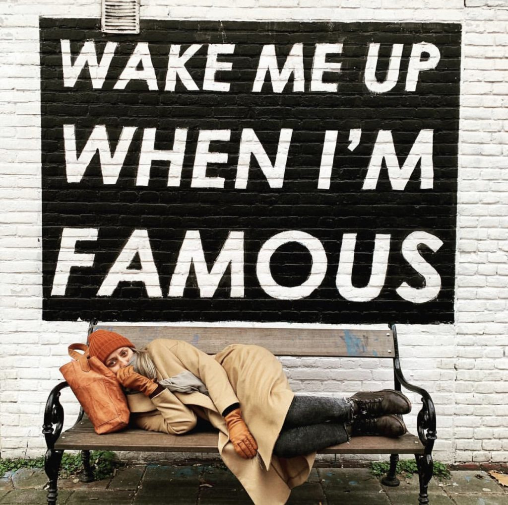 The Wake Me Up When I'm Famous Bench is one of the most instagrammable places in Amsterdam!