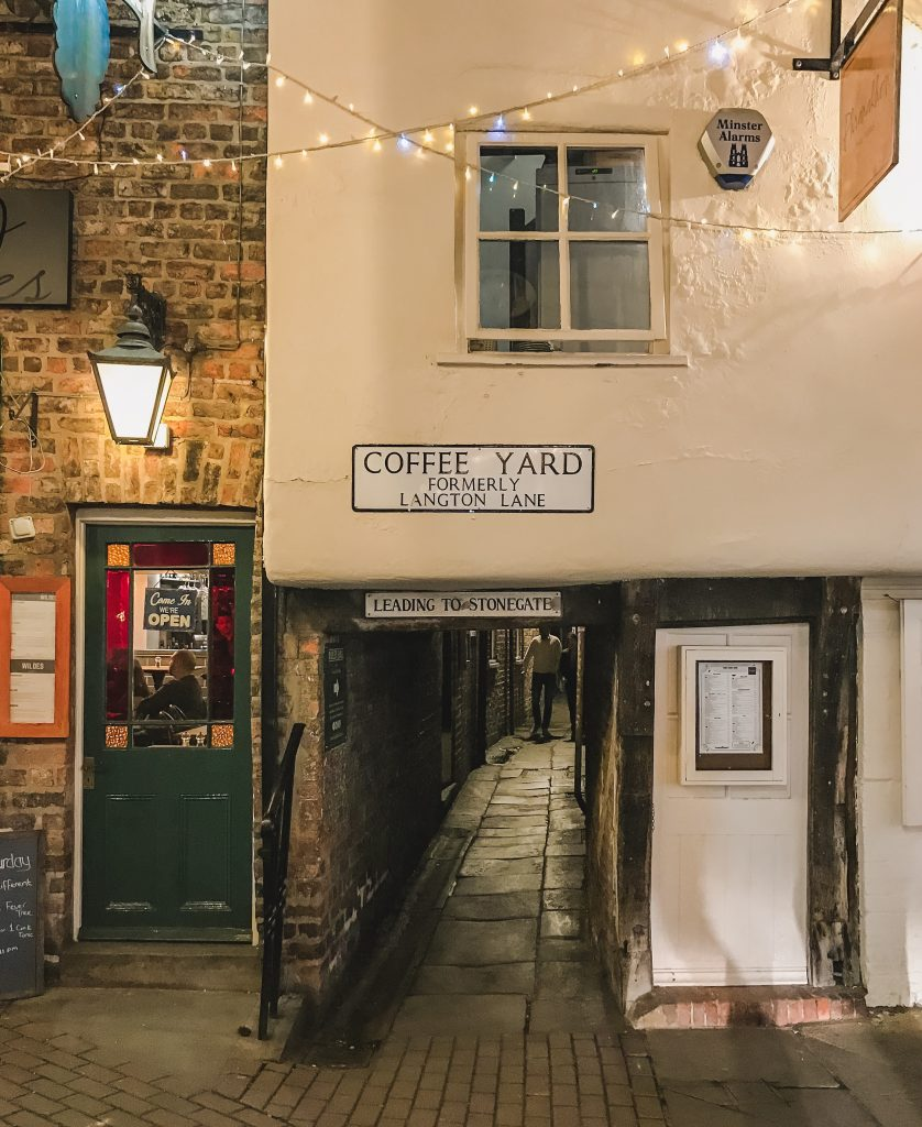 My favourite snickelway in York is 'Coffee Yard', although I didn't find much coffee there. Definitely great places to explore in York!