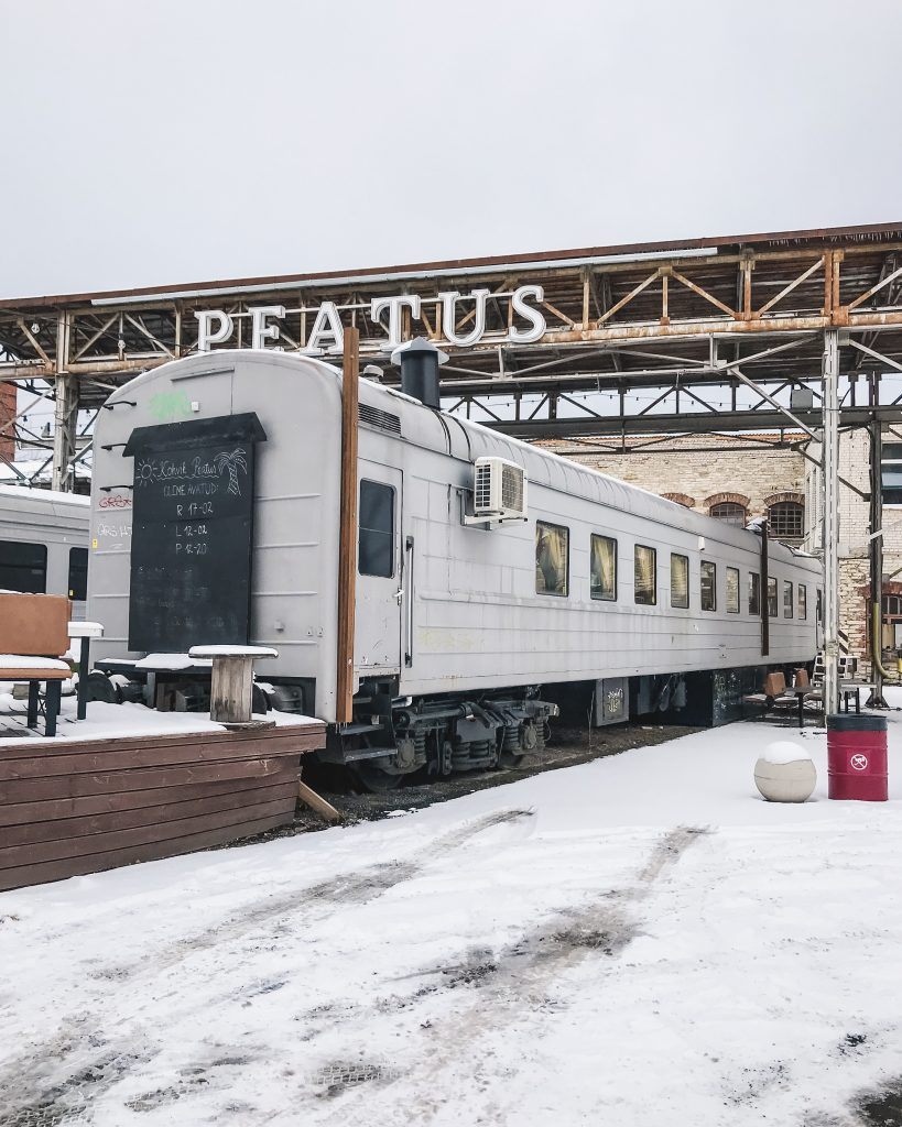 DEPOO is home to 'food trucks' in old train carriages as well as shipping containers. Definitely a must see in Tallinn!