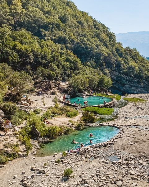 Getting to places like Bënjë Thermal Pools near Përmët definitely requires a decent car like a 4x4! Just one thing you ought to know when renting a car in Albania.