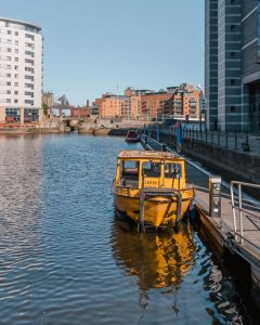 One thing you can't miss when in Leeds is taking a water taxi