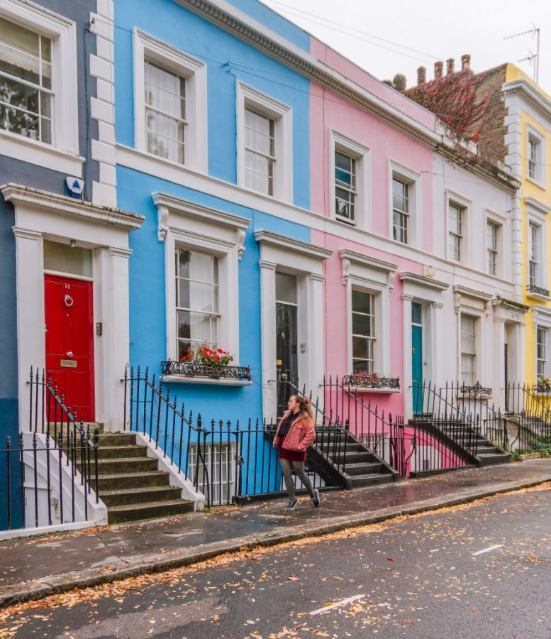 Notting Hill is one of the most beautiful places in London! Denbigh Terrace is one of the best instagram spots in London for sure!