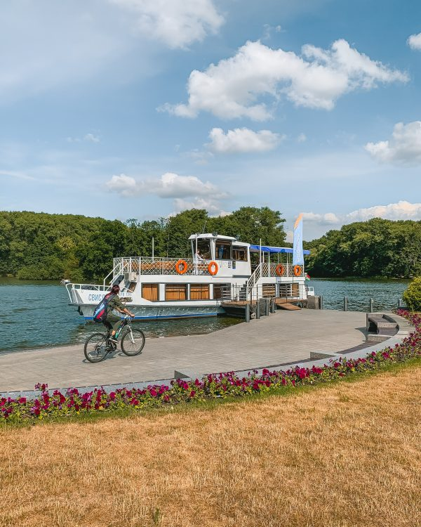 Summer in Minsk is a great time to go on a boat cruise on the lake!