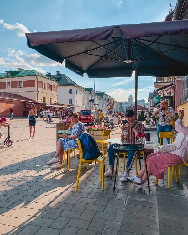 Ulica Zybitskaya is one of the best streets in Minsk for coffee and drinks - definitely visit when you are exploring Minsk!