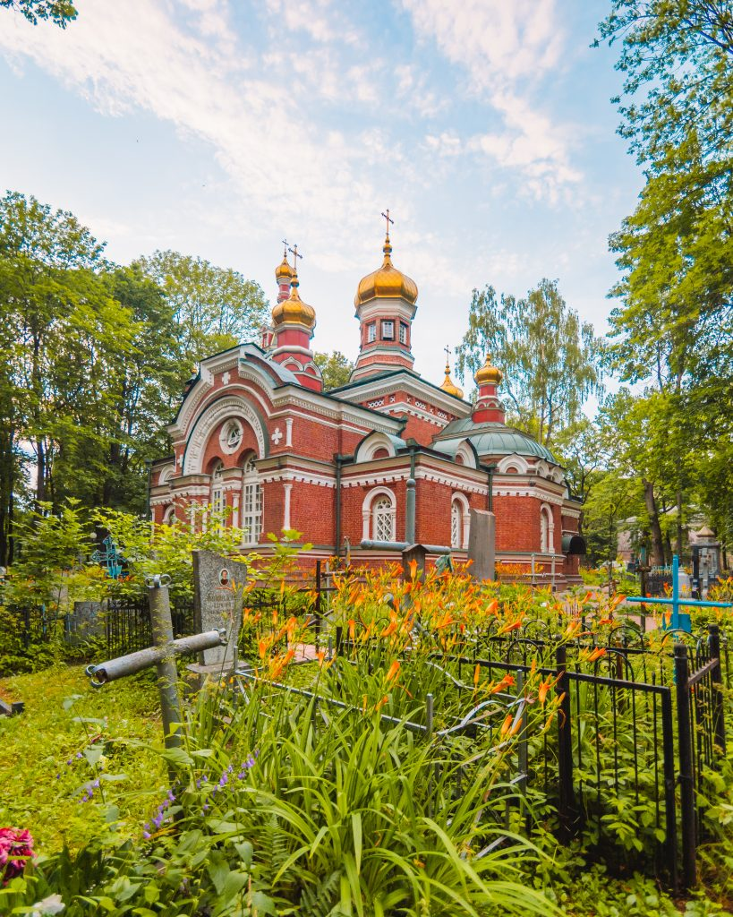 Belarus and Minsk are home to beautiful churches - one of my favourites in Minsk is the Orthodox Alexander Nevsky church, built in a red brick and surrounded by green gardens.