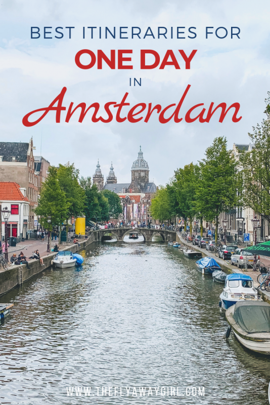 Amsterdam in one day! If you only have one day in Amsterdam or you are planning a day trip to Amsterdam, here is the itinerary you need! Here are Amsterdam must see attractions and six perfect Amsterdam itineraries for your visit. #netherlands #amsterdam #europe