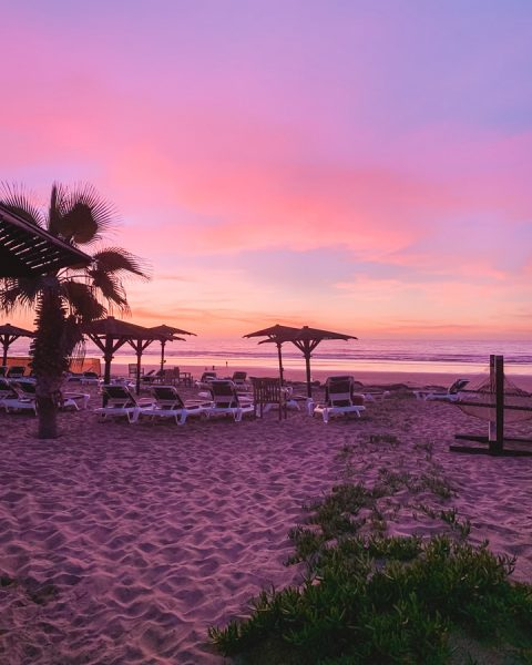 ROBINSON Agadir has a private beach which is a beautiful place to see sunset.