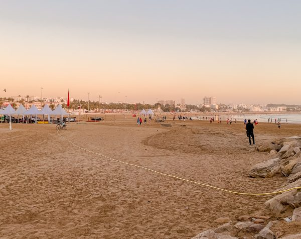If you want to see more of Agadir city then taker a taxi down to Agadir marina to explore the marina area and the beach. The beach is golden sand and many people go to relax in the sun, play ball games on the sand or take a walk along the beach at sunset.