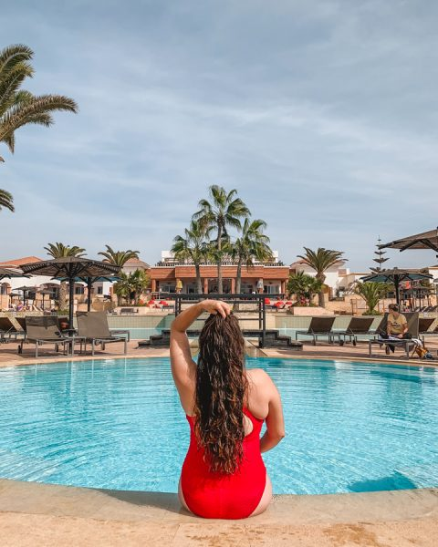Agadir weather in November is still warm enough to relax by the outdoor pool and even to go down to the beach!