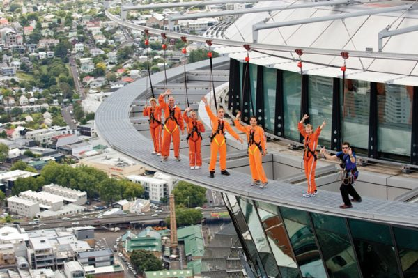 The SkyWalk is a great activity to do on your first day in Auckland, New Zealand