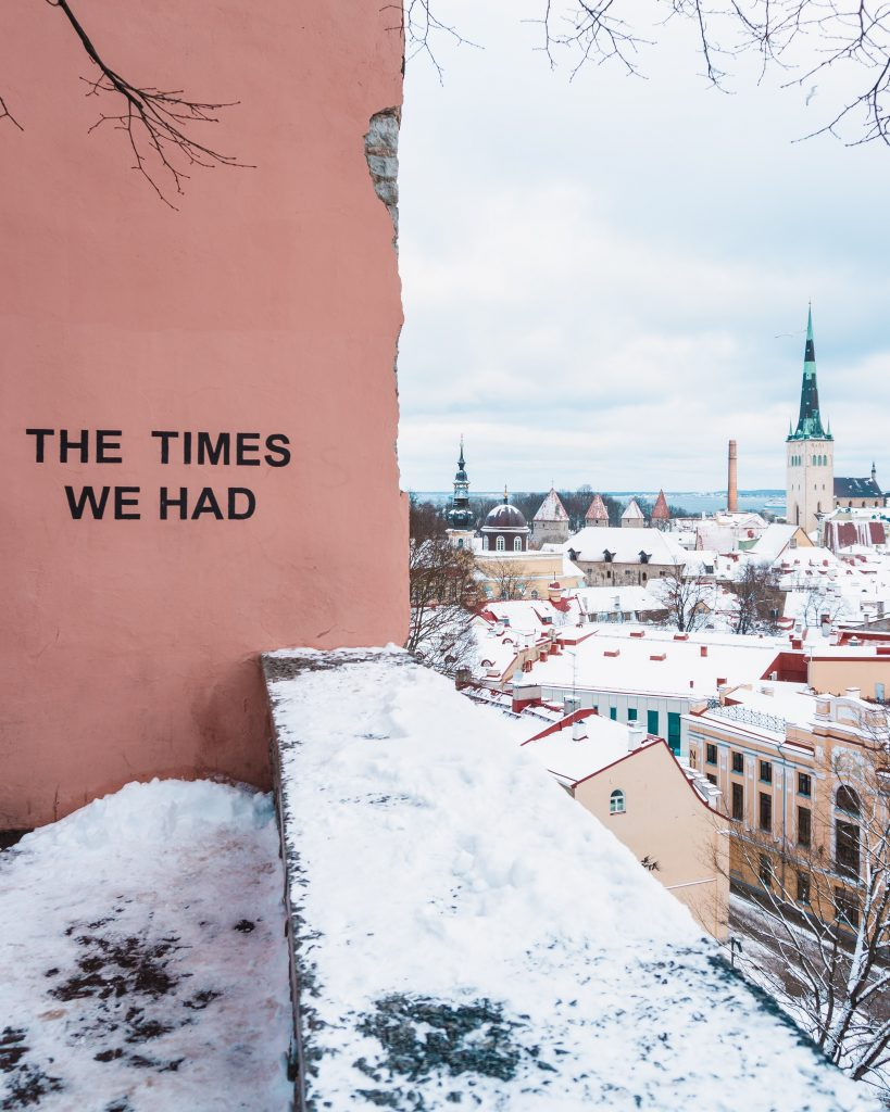 We visited the viewing platform for the second time after there was fresh snow in Tallinn! Don't forget to visit when you're in Tallinn for the weekend.