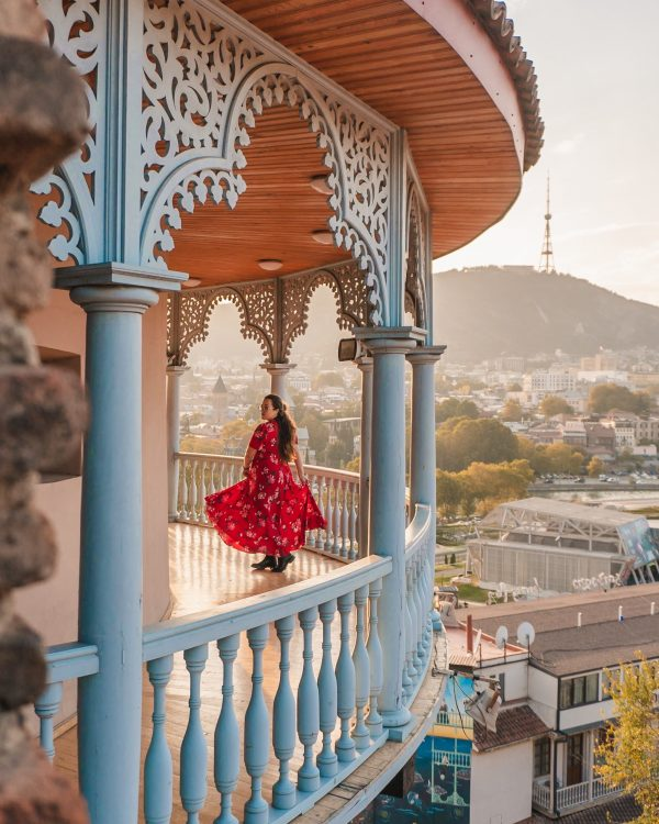 Queen Darejan Palace or Sachino Palace is easily one of the best things to do in Tbilisi! It's a great spot to see sunset over the entire city.