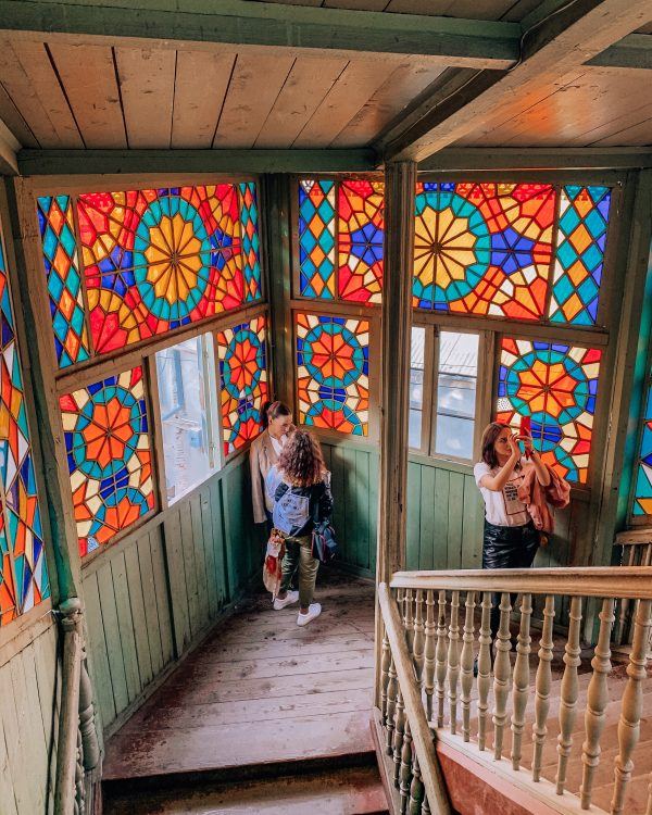 When you are in Tbilisi you can't miss a visit to the beautiful Kaleidoscope House with stunning stained glass windows!