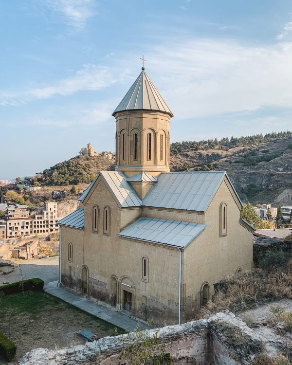 One thing you can't miss in Tbilisi is Narikala Fortress and Saint Nicholas Church, which offer beautiful views over the city of Tbilisi, Georgia